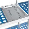 Scaffalatura modulare Semplice 4 Ripiani in Fondo 560 mm Altezza 1750 mm