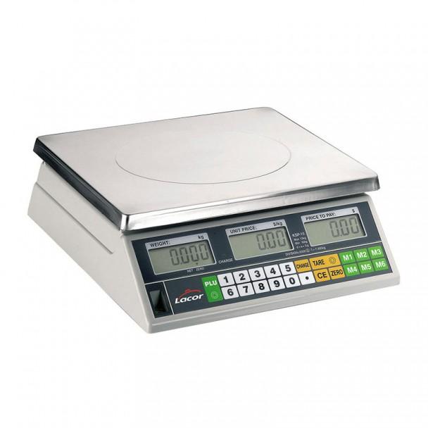 Scala 30 kg Elettronica Desktop con Base in acciaio Inox Quadrato