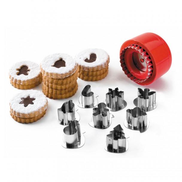 Set Di 8 Frese, Cookie Motivi Di Natale
