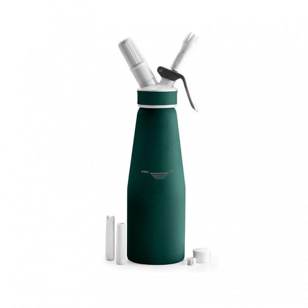 Bottiglia Sifone Panna Alluminio Verde