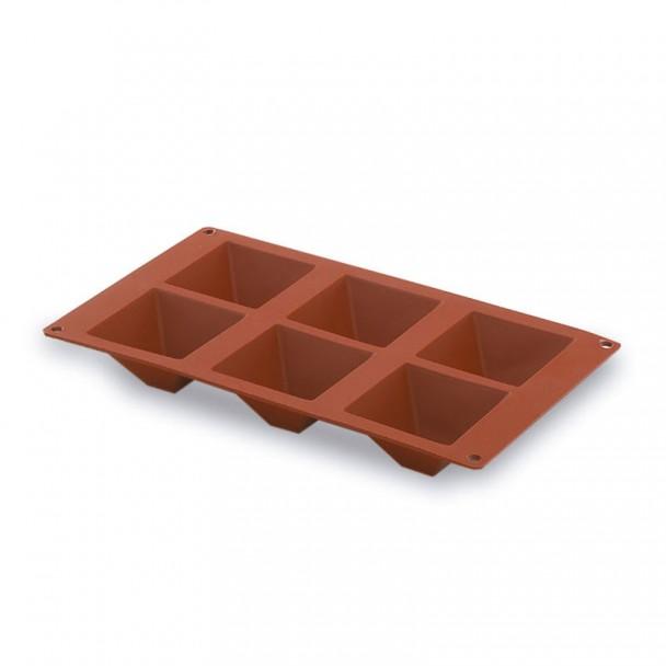 Stampo Piramide 6 Cavità Silicone Pastryflex