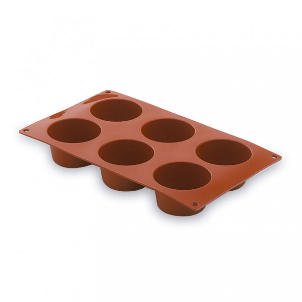 Stampo Muffin 6 Stampi In Silicone Pastryflex