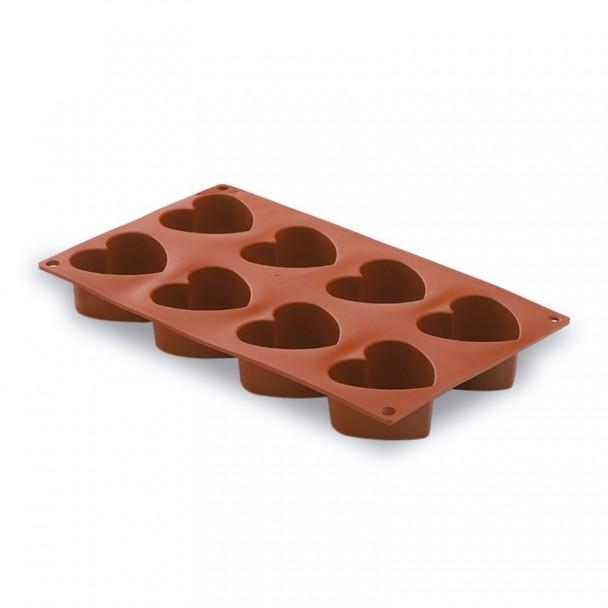 Stampo Cuori 8 Cavità Silicone Pastryflex