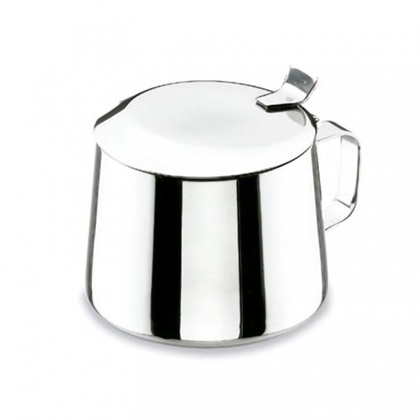 Sugar Bowl Capovolgere Il Coperchio In Acciaio Inossidabile 18/10 Classico