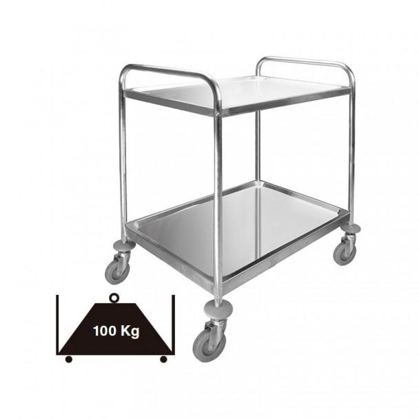 Auto di Servizio 2 Vassoi in acciaio Inox Estraibile 100 kg