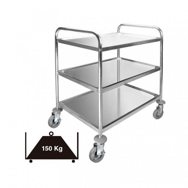 Carrello di Servizio A 3 Cassetti in acciaio Inox Estraibile 150 kg
