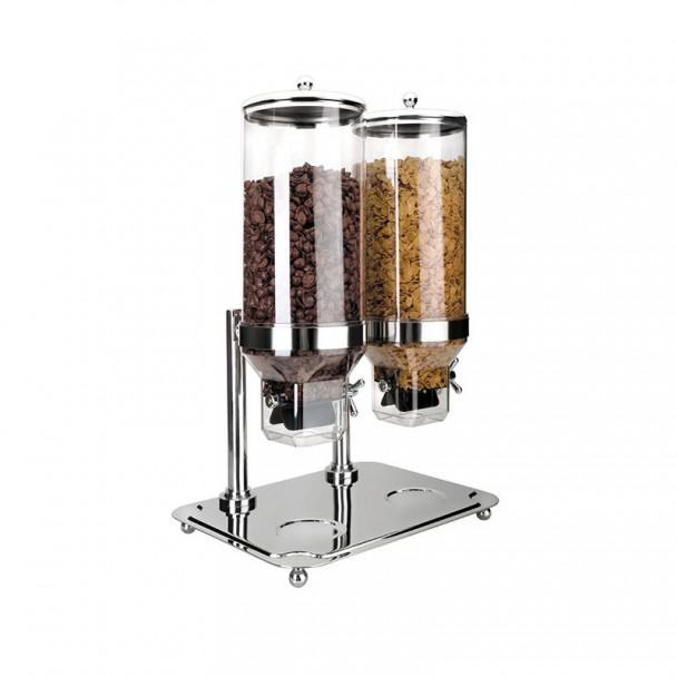 Dispenser Cereali Doppio con Base