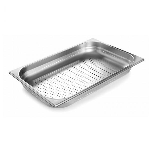 Vassoio Forato In Acciaio Inox Aisi 200 Gastronorm 2/1