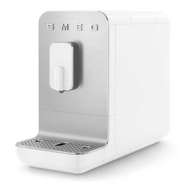 Macchina da caffè super automatica stile anni ' 50 bianco